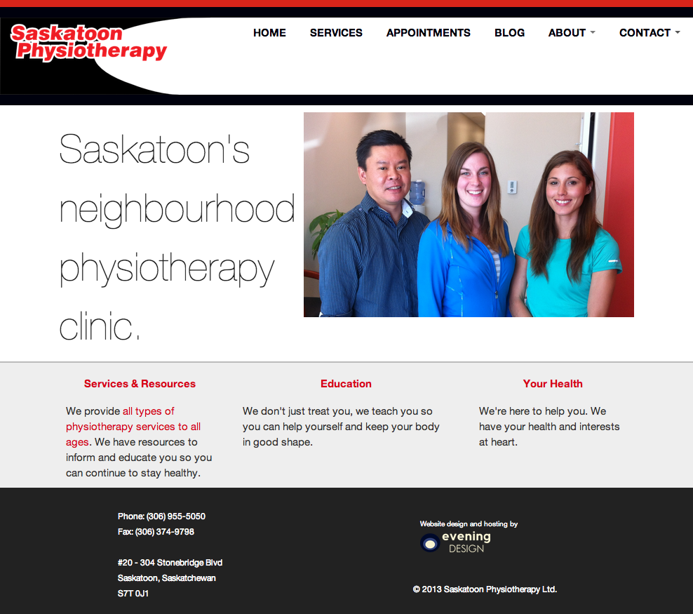 Saskatoon Physiotherapy gallery screenshot
